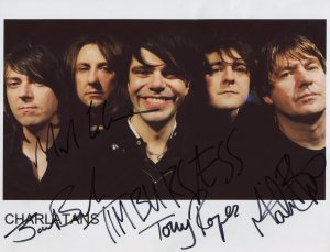 The Charlatans FULLY SIGNED Photo 1st Generation PRINT Ltd 150 + Certificate (1)