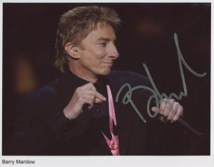 Barry Manilow SIGNED Photo 1st Generation PRINT Ltd 150 + Certificate (1)