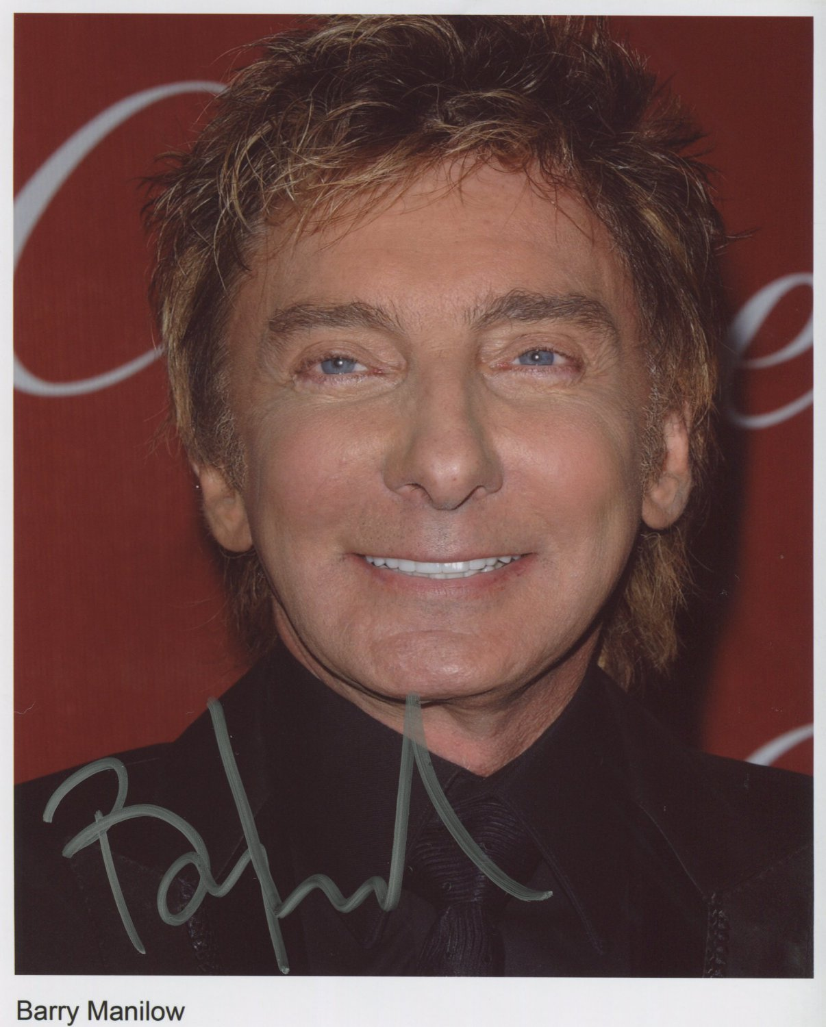 Barry Manilow SIGNED Photo 1st Generation PRINT Ltd 150 + Certificate (3)