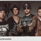 Avenged Sevenfold FULLY SIGNED Photo 1st Generation PRINT Ltd 150 + Certificate (2)