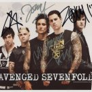 Avenged Sevenfold FULLY SIGNED Photo 1st Generation PRINT Ltd 150 + Certificate (1)