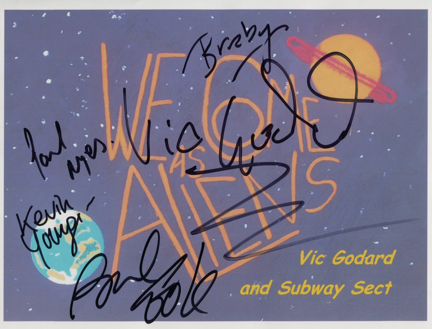 Vic Goddard Subway Sect Sex Pistols FULLY SIGNED Photo + Certificate Of Authentication 100% Genuine
