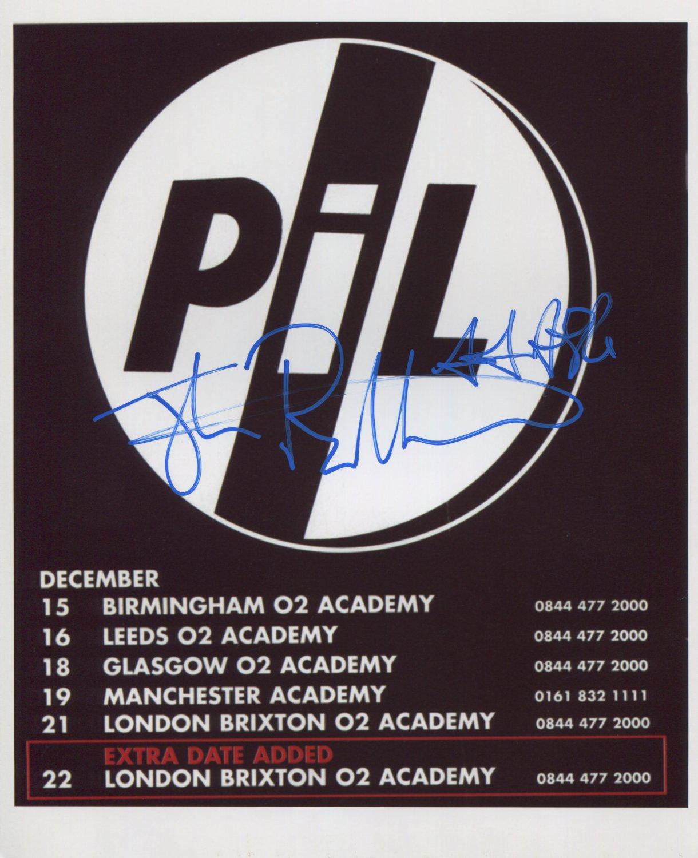 "John Lydon Public Image Ltd SIGNED 8"" x 10"" Photo + Certificate Of Authentication  100% Genuine"