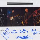 """B-Movie (Band) FULLY SIGNED 8"""" x 10"""" Photo + Certificate Of Authentication 100% Genuine"""