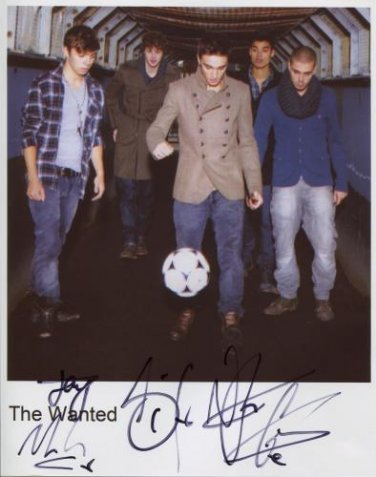 The Wanted FULLY SIGNED Photo + Certificate Of Authentication  100% Genuine