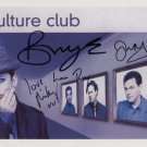 "Culture Club FULLY SIGNED 8"" x 10"" Photo + Certificate Of Authentication  100% Genuine"