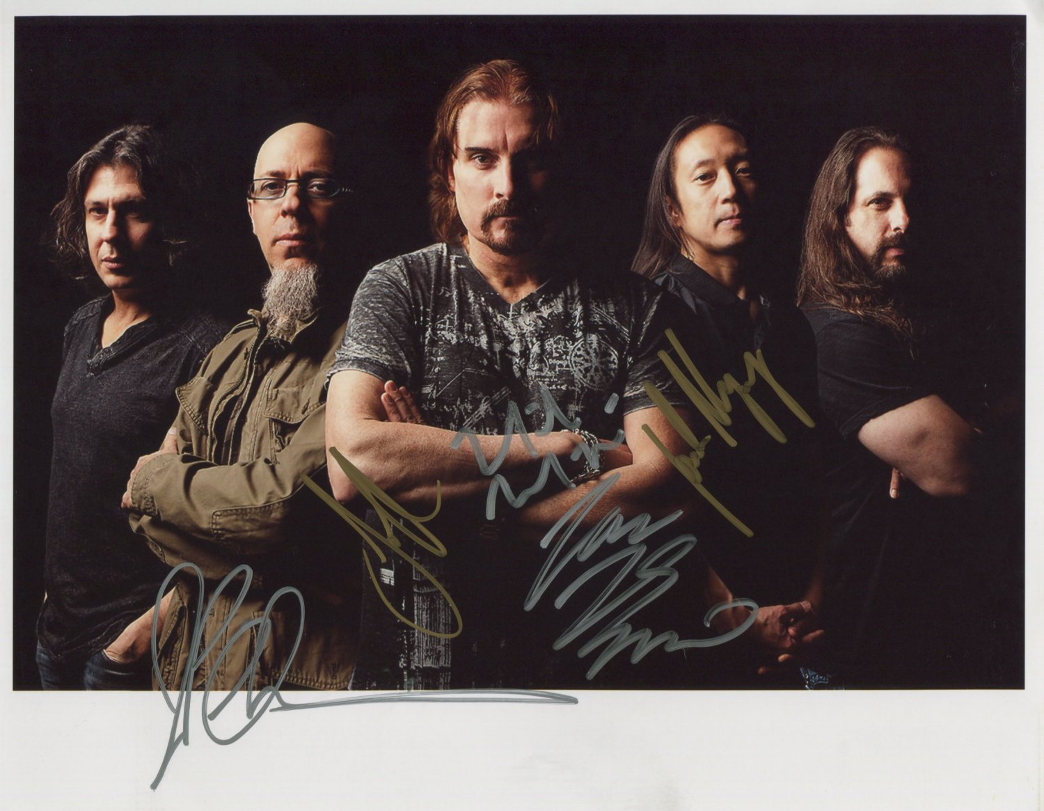 Dream Theater FULLY SIGNED Photo + Certificate Of Authentication 100% Genuine