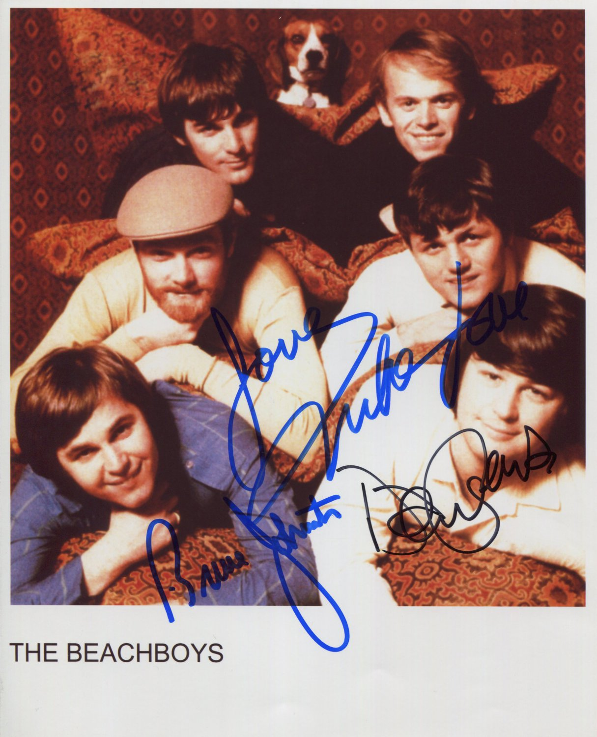 """The Beach Boys SIGNED 8"""" x 10"""" Photo + Certificate Of Authentication 100% Genuine"""