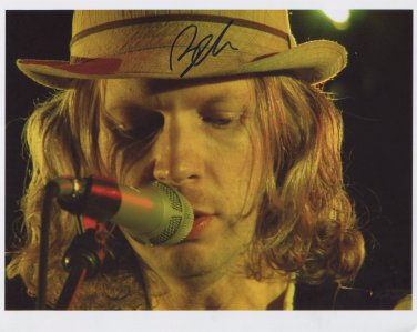 "Beck Hansen (Singer) SIGNED 8"" x 10"" Photo + Certificate Of Authentication  100% Genuine"