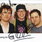 "Scouting For Girls FULLY SIGNED 8"" x 10"" Photo + Certificate Of Authentication  100% Genuine"