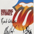 Rolling Stones Charlie Watts & Mick Taylor SIGNED 8 x 10 Photo Certificate Of Authentication