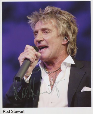 """Rod Stewart SIGNED 8"""" x 10"""" Photo + Certificate Of Authentication 100% Genuine"""