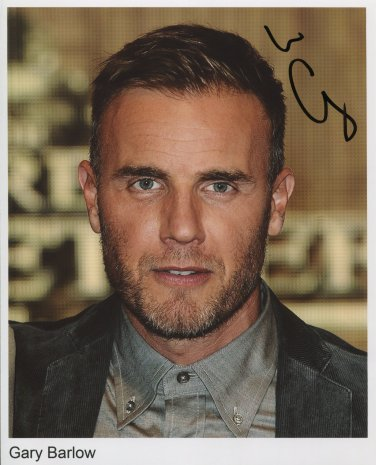 """Gary Barlow SIGNED 8"""" x 10"""" Photo + Certificate Of Authentication 100% Genuine"""