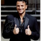 """Peter Andre SIGNED 8"""" x 10"""" Photo + Certificate Of Authentication  100% Genuine"""