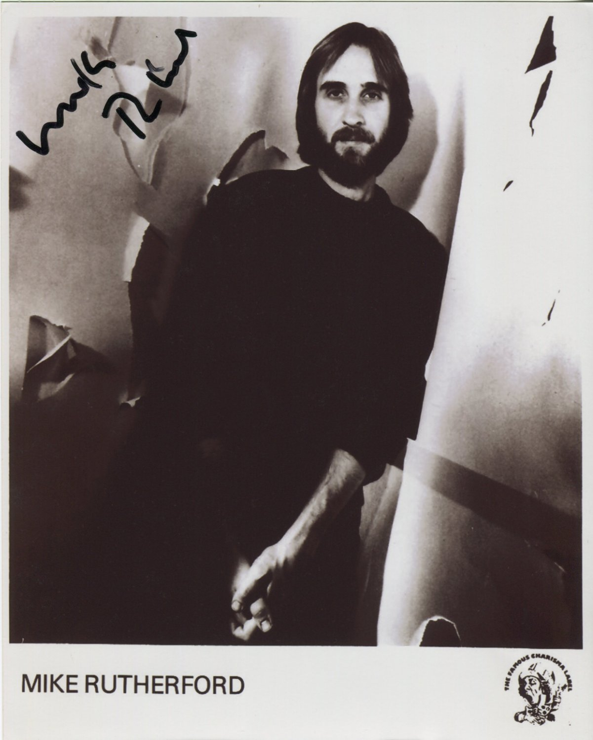 "Mike Rutherford Genesis SIGNED 8"" x 10"" Photo + Certificate Of Authentication 100% Genuine"