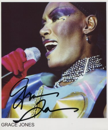 "Grace Jones SIGNED 8"" x 10"" Photo + Certificate Of Authentication  100% Genuine"