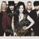 "Nightwish (Band) FULLY SIGNED 8"" x 10"" Photo + Certificate Of Authentication 100% Genuine"