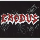 Exodus (Metal Band) FULLY SIGNED Photo + Certificate Of Authentication  100% Genuine