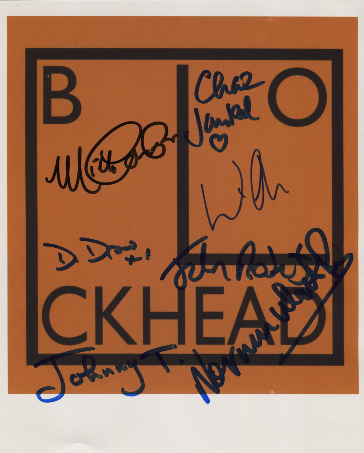 The Blockheads Incl Wilko Johnson SIGNED Photo + Certificate Of Authentication  100% Genuine