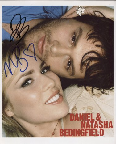 Daniel and Natasha Bedingfield SIGNED Photo + COA Lifetime Guarantee