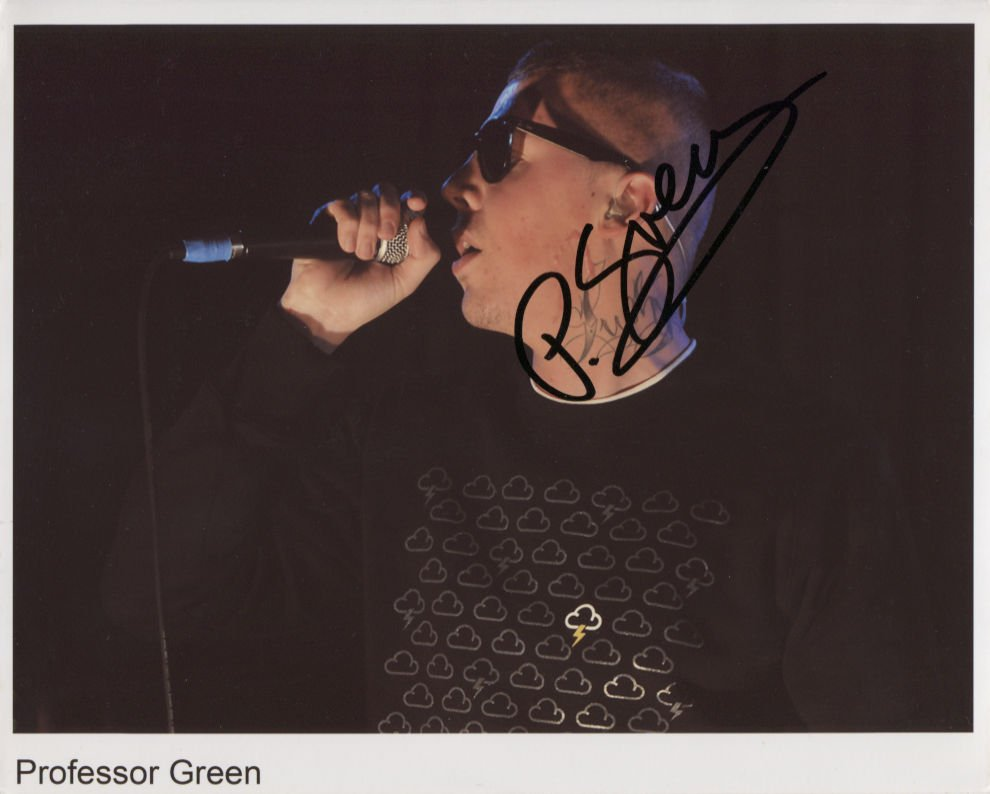Professor Green SIGNED Photo + Certificate Of Authentication 100% Genuine