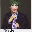 """Pete Burns Dead Or Alive SIGNED 8"""" x 10"""" Photo + Certificate Of Authentication 100% Genuine"""