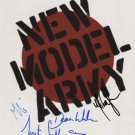 "New Model Army SIGNED 8"" x 10"" Photo + Certificate Of Authentication  100% Genuine"