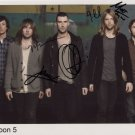 "Maroon 5 (Band) FULLY  SIGNED 8"" x 10"" Photo + Certificate Of Authentication  100% Genuine"