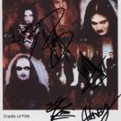"""Cradle Of Filth FULLY SIGNED 8"""" x 10"""" Photo + Certificate Of Authentication 100% Genuine"""