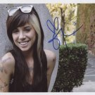 Christina Perri SIGNED Photo + Certificate Of Authentication 100% Genuine