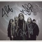Opeth (Band) FULLY SIGNED  Photo + Certificate Of Authentication  100% Genuine