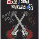 """Cockney Rejects (Band) SIGNED 8"""" x 10"""" Photo + Certificate Of Authentication 100% Genuine"""