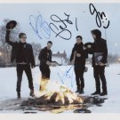 Fall Out Boy FULLY SIGNED 8 x 10 Photo + Certificate Of Authentication  100% Genuine