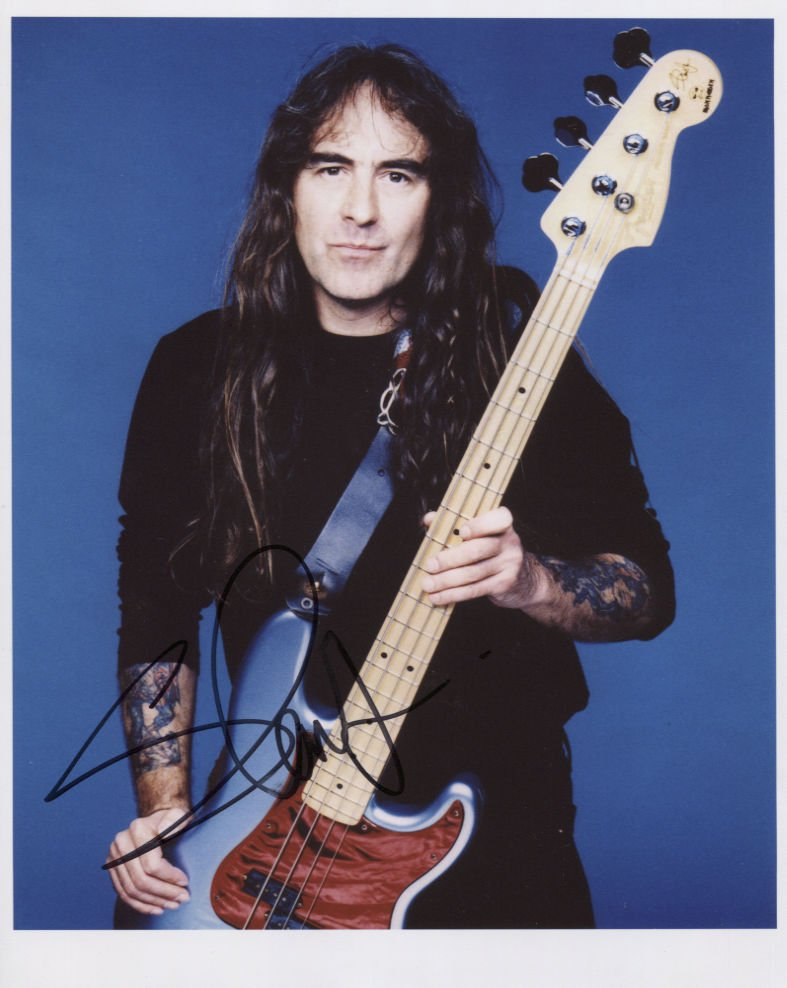 """Iron Maiden Steve Harris SIGNED 8"""" x 10"""" Photo + Certificate Of Authentication  100% Genuine"""