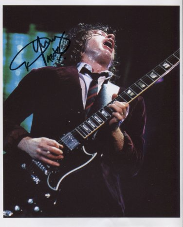 AC/DC (Band) Angus Young SIGNED Photo + Certificate Of Authentication 100% Genuine