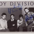 "Joy Division (Band) SIGNED 8"" x 10"" Photo + Certificate Of Authentication  100% Genuine"