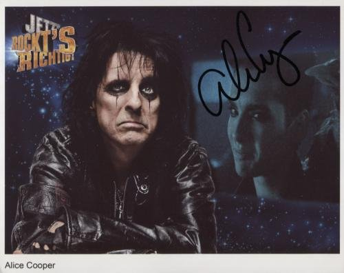 """Alice Cooper SIGNED 8"""" x 10"""" Photo + Certificate Of Authentication  100% Genuine"""