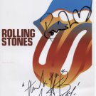 Rolling Stones Ronnie Wood Charlie Watts SIGNEDPhoto + Certificate Of Authentication  100% Genuine