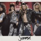 Steel Panther FULLY SIGNED Photo + Certificate Of Authentication 100% Genuine