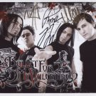 "Bullet For My Valentine FULLY SIGNED 8"" x 10"" Photo + Certificate Of Authentication  100% Genuine"