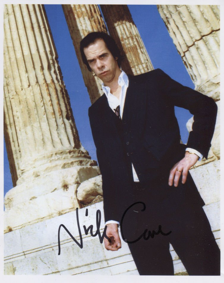"""Nick Cave SIGNED 8"""" x 10"""" Photo + Certificate Of Authentication  100% Genuine"""