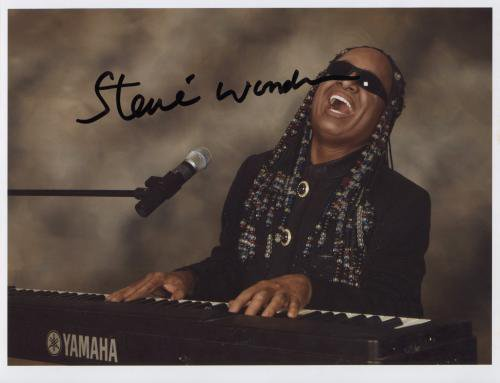 """Stevie Wonder SIGNED 8"""" x 10"""" Photo + Certificate Of Authentication 100% Genuine"""