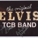 "Elvis Presley TCB Band SIGNED 8"" x 10"" Photo + Certificate Of Authentication  100% Genuine"