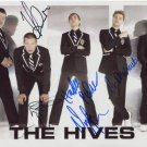 """The Hives FULLY SIGNED 8"""" x 10"""" Photo + Certificate Of Authentication 100% Genuine"""