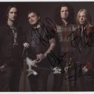 """Black Stone Cherry (Band) FULLY SIGNED 8"""" x 10"""" Photo + Certificate Of Authentication  100% Genuine"""