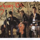 """The Stray Cats (Band) FULLY SIGNED 8"""" x 10"""" Photo + Certificate Of Authentication 100% Genuine"""