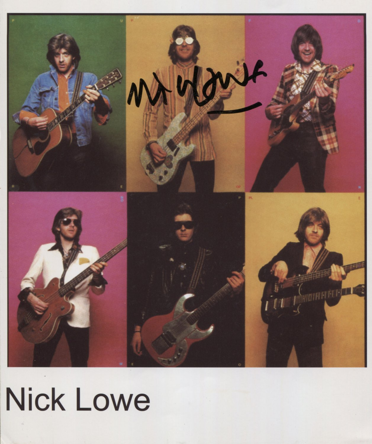"""Nick Lowe SIGNED 8"""" x 10"""" Photo + Certificate Of Authentication 100% Genuine"""