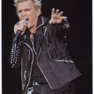 Billy Idol SIGNED Photo + Certificate Of Authentication 100% Genuine