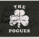 """The Pogues FULLY SIGNED 8"""" x 10"""" Photo + Certificate Of Authentication 100% Genuine"""