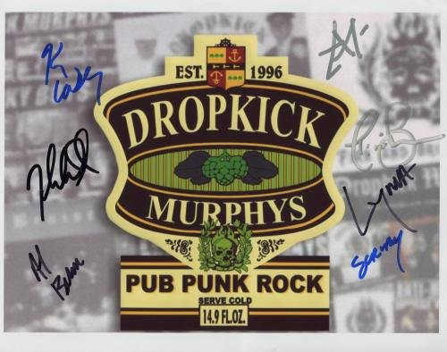 "Dropkick Murphys FULLY SIGNED 8"" x 10"" Photo + Certificate Of Authentication  100% Genuine"